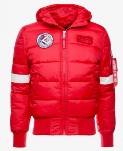 Alpha Industries HOODED PUFFER NASA - Winterjacke